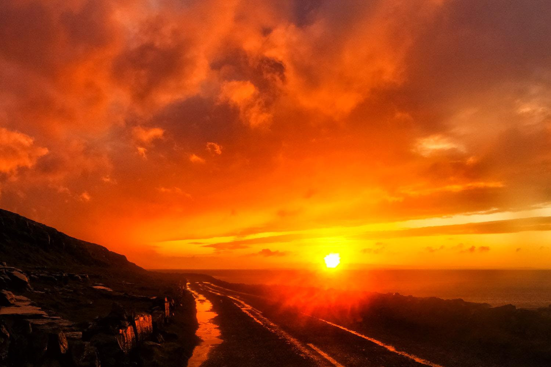 アイルランドの夕陽