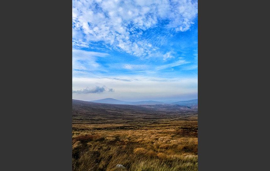 ヨーロッパの西端、アイルランドの山岳地帯