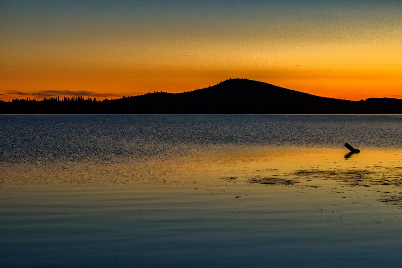 アラスカで見た壮大な夕焼け