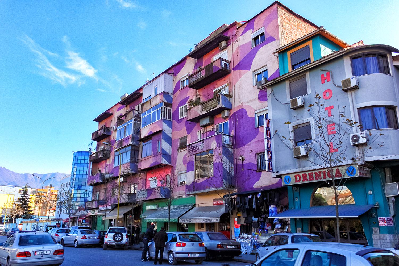 アルバニアの首都ティアラで見かけた不思議な街並み