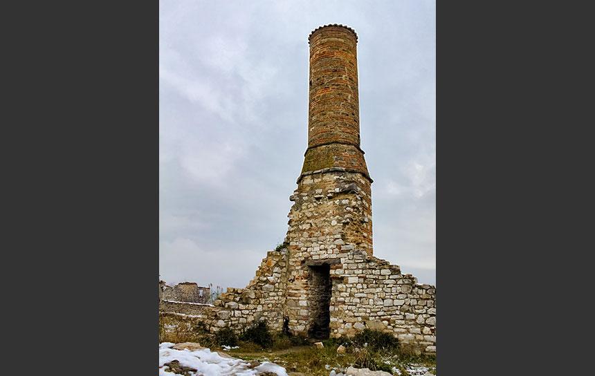 アルバニア世界遺産ベラト、城跡の塔