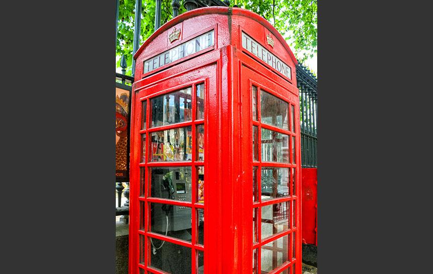 ロンドンの公衆電話