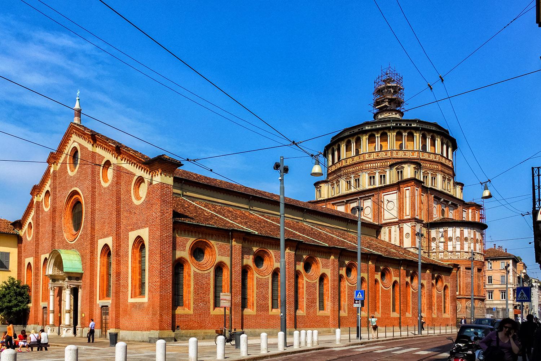 レオナルド・ダ・ヴィンチ「最後の晩餐」が描かれているサンタマリアデッレグラツィエ教会