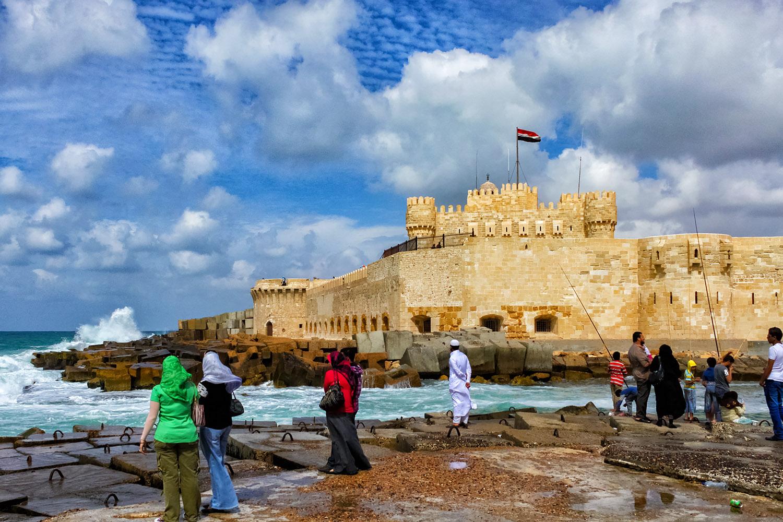 エジプト・アレキサンドリアのカイトベイ要塞