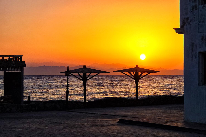 ダハブの夕焼け空