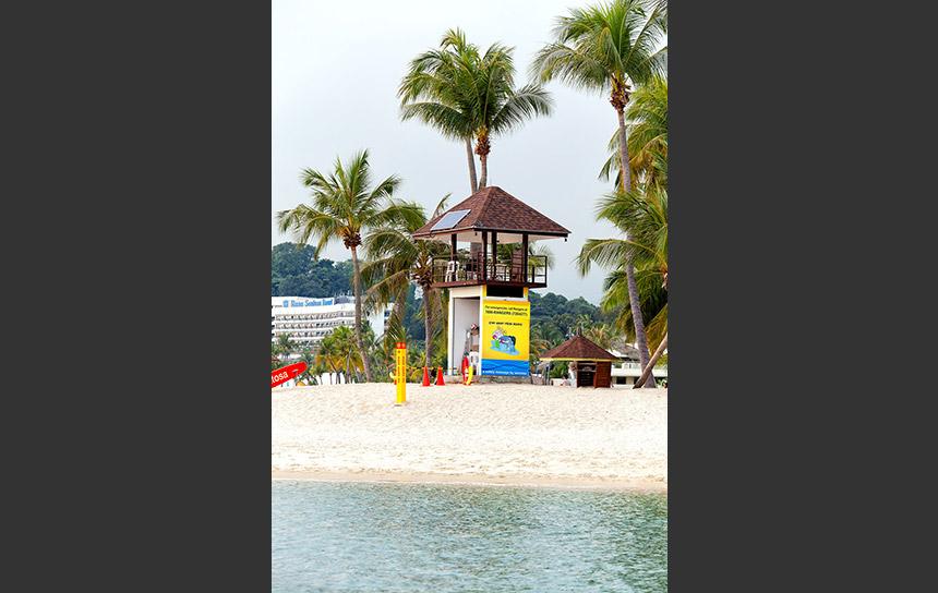 シンガポールの海岸