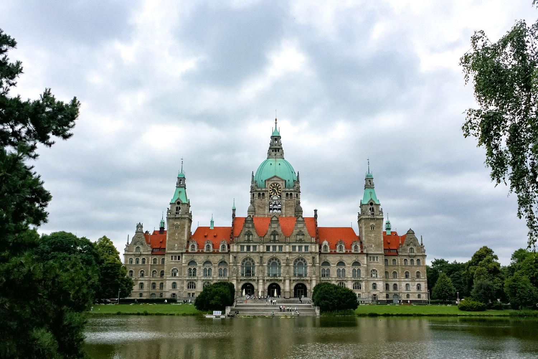 ドイツ・ハノーバー、宮殿のような市庁舎