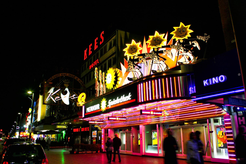 自由ハンザ都市ハンブルクの夜景