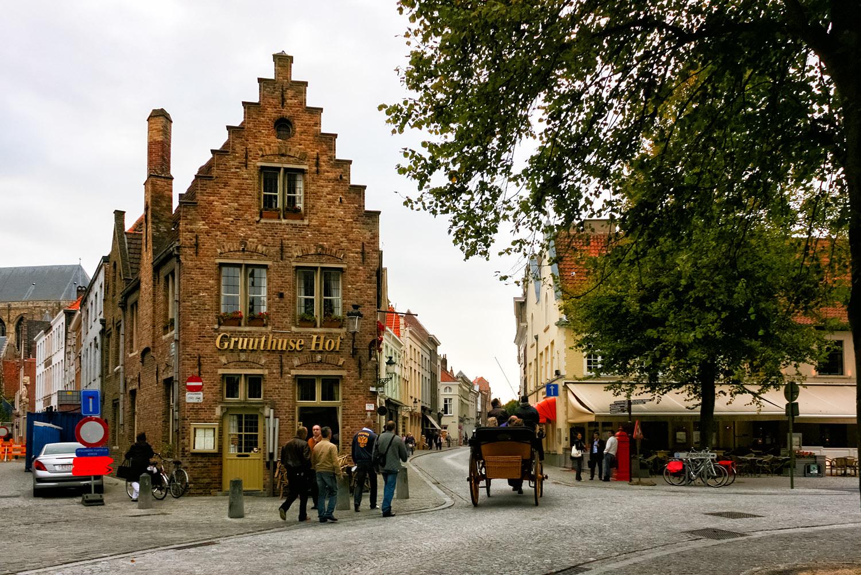 美術と歴史の街、ベルギーのブルージュ