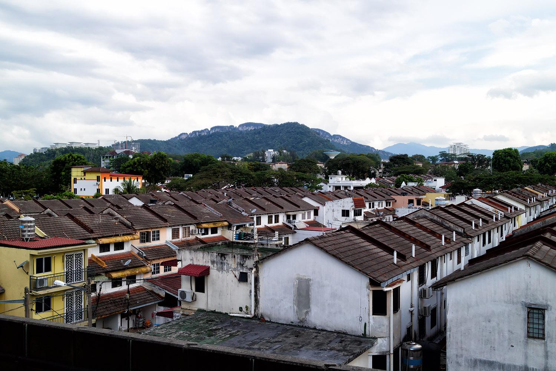 マレーシア郊外の一般的な住宅街