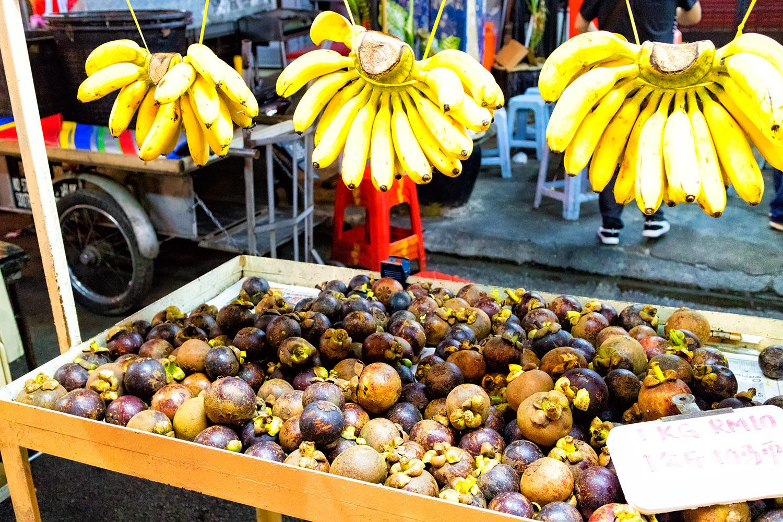 バナナとマンゴスチンの屋台 無料壁紙 商用利用可の画像素材なら