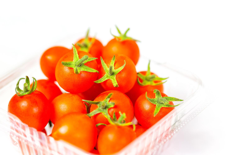 近くで見ても艶々なミニトマト