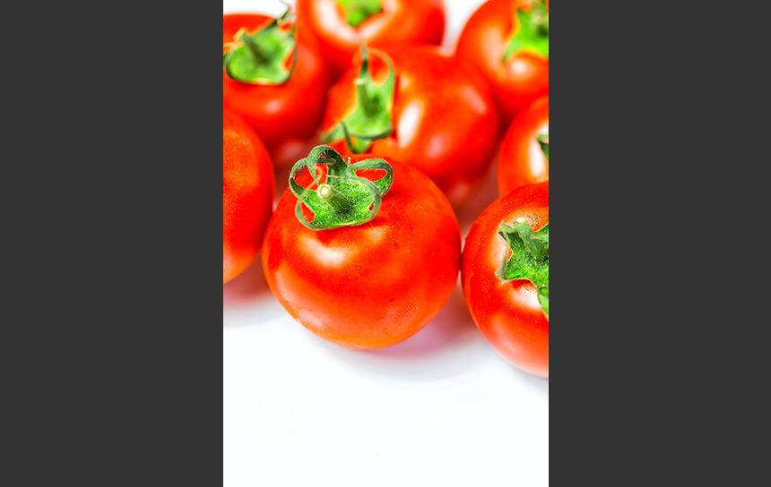 真っ赤に輝くミニトマト