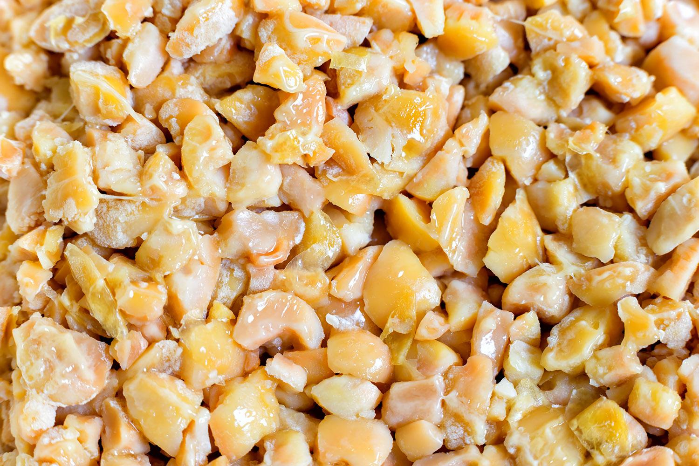 混ぜる前の、ひきわり納豆