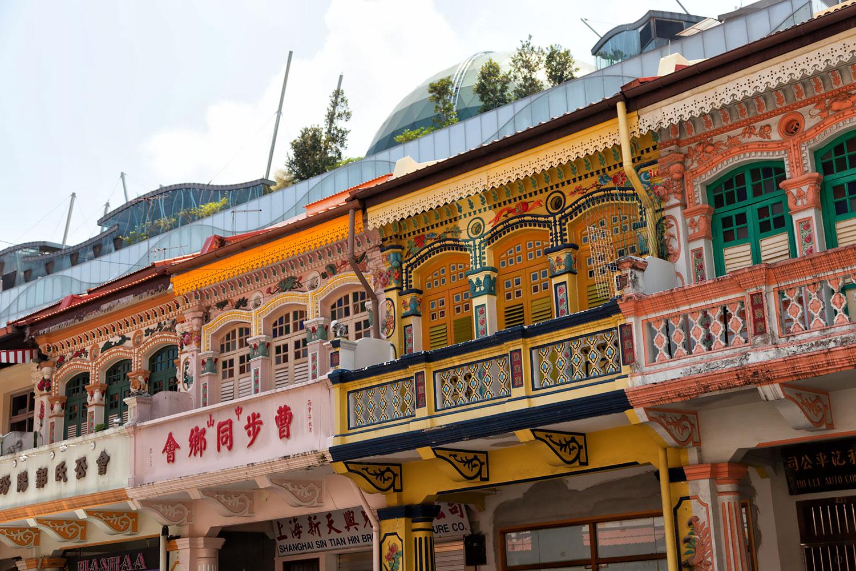 住居は2Fシンガポール伝統の建築、でも屋上が近未来!