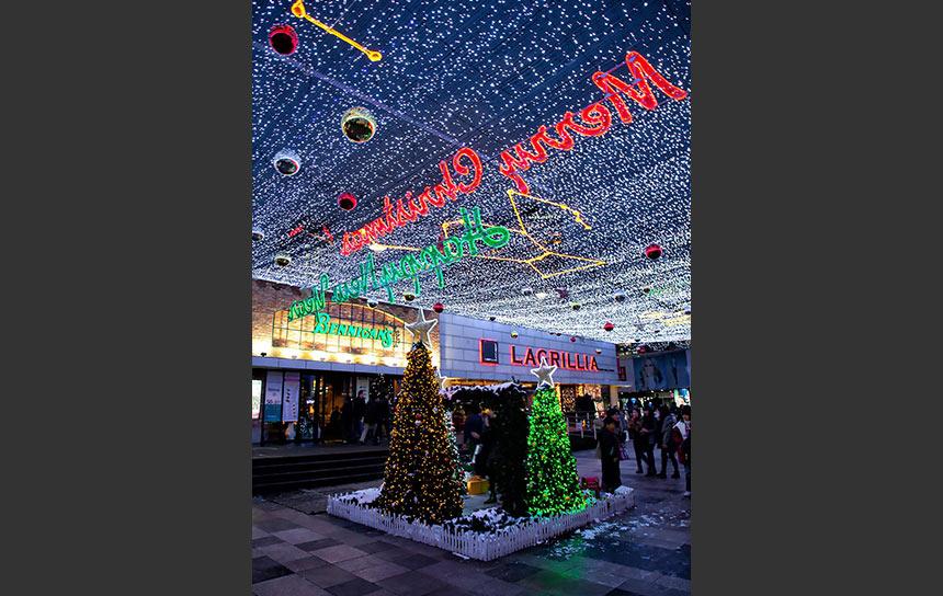おしゃれなソウル・カンナム地下街のメリークリスマス