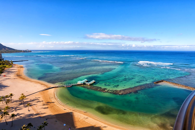 大人気観光地!ハワイ・オアフ島ワイキキの海