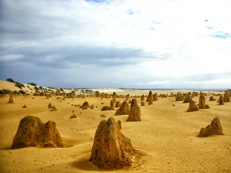 オーストラリア・ナンバン国立公園、黄砂の夕景