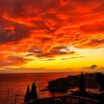 ヨーロッパの夕陽と日没