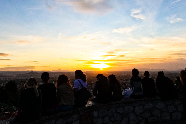 グラナダ夕陽