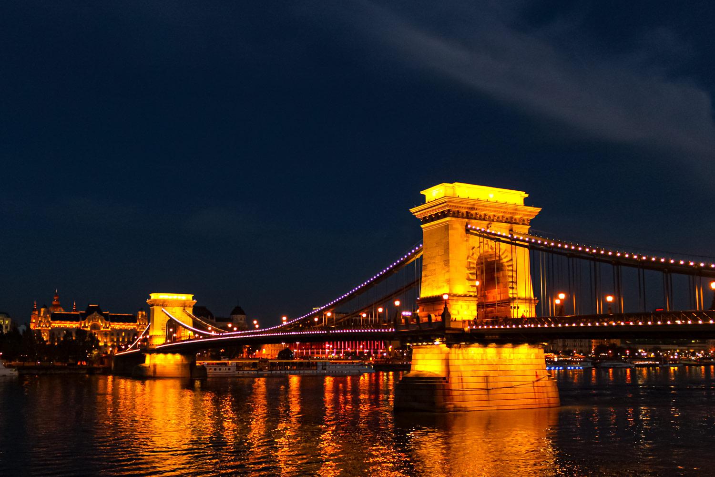 鎖橋とドナウ川